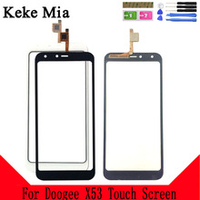 Keke Mia 5.3 Touchscreen Panel For Doogee X53 Touch Screen Digitizer Sensor Front Glass Replacement Free Adhesive And Wipes