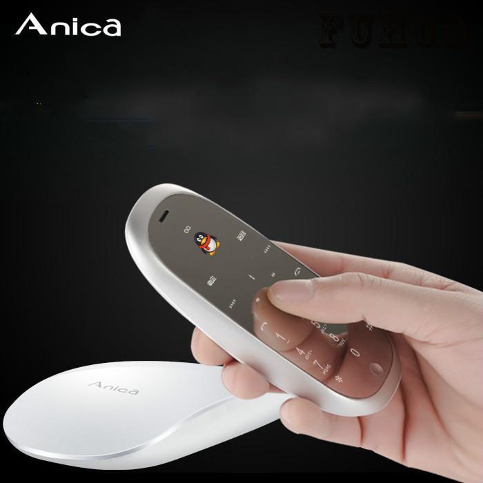 bilder für Original anica s6 maus telefon luxus metall ganzkörper-spiegel-schirm-schutz-abdeckung zell MP3 FM Bluetooth dialer maus und telefon 2in1 nette mobile
