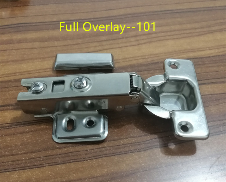 101 Full Overlay Stainless steel Hinges Hydraulic  Damper Buffer Cabinet  Door Hinges Soft Close Furniture hinges stainless steel door hinges hydraulic buffer automatic closing door spring hinge 125 78mm furniture cabinet drawer hardware