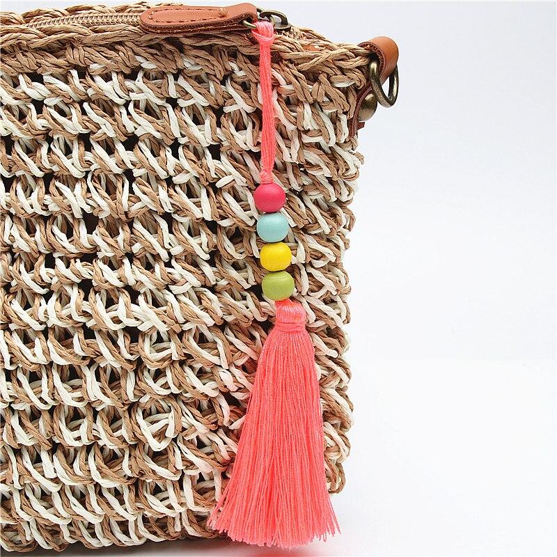 Schmuck & Zubehör Sinnvoll 1 Pc Bunte Quaste Keychain Mit Holz Perlen Hmong Schlüssel Ketten Für Handtasche Statten Frauen Schmuck Geschenk