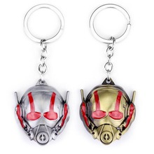 цена Marvel Super Heros Movie Ant-Man Keychain Toy Alloy Ant man Mask Metal Key Rings Action Figure For Gifts Chaveiro Key Chain Toy онлайн в 2017 году
