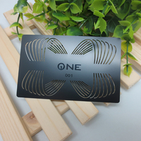 Custom metal card black gold and silver plated VIP membership card custom stainless steel gift card
