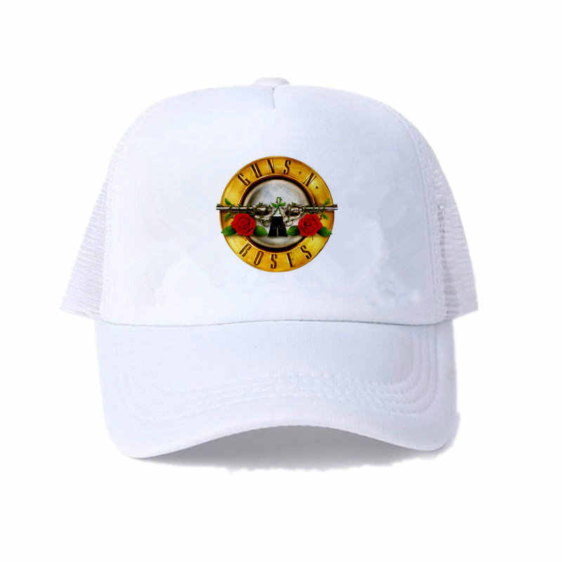 1087c3893644d ... American Hard Rock Band Cap Hat Guns N  Roses Snapback Cap GNR Bullet  Black Trucker ...