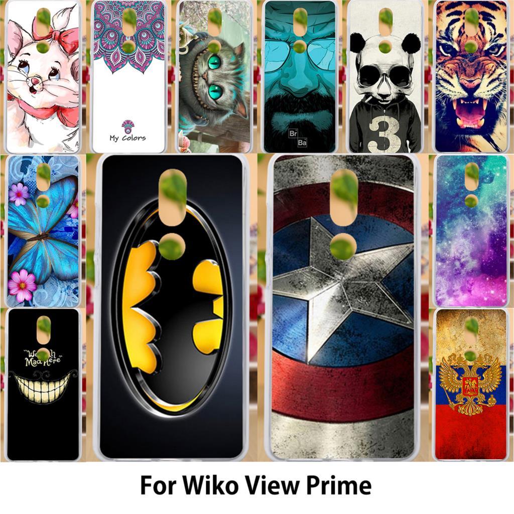 AKABEILA чехол для Wiko вид Prime Чехлы Силиконовые ТПУ Мягкая обложки фотопринтер телефон Обложка Симпатичные Животные Бэтмен 5,7 дюймов