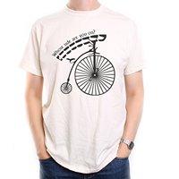LEQEMAO Gedruckt Männer T-shirt Kleidung Old Skool Fußball-hooligans Die gefangene T-shirt Penny Farthing Wessen Seite Sind Sie Auf?