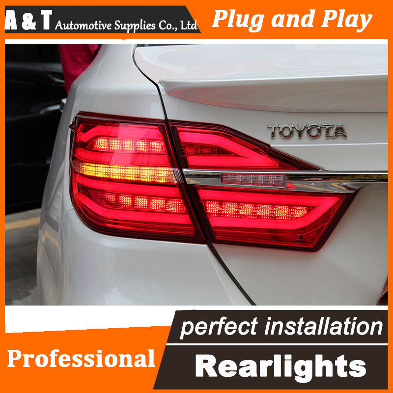 Car Styling LED Tail Lamp for Toyota Camry Taillights 2015 New Camry Rear Light DRL+Turn Signal+Brake+Reverse auto Accessories special car trunk mats for toyota all models corolla camry rav4 auris prius yalis avensis 2014 accessories car styling auto