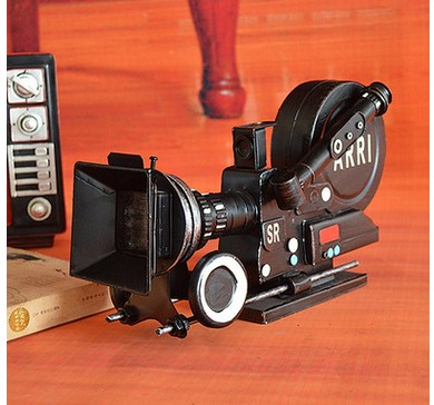 European vintage camera model iron art home decor bar props movie props wine cabinet ornaments household home Crafts Art