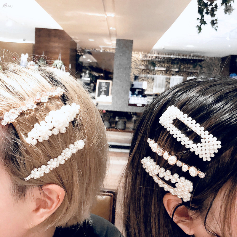 M Mism Ins Hot Korean Fashion Crystal Elegant Hairpins Hair Clips Women Girl Geometric Waterdrop Hair Accessorie Para El Cabello Back To Search Resultsapparel Accessories