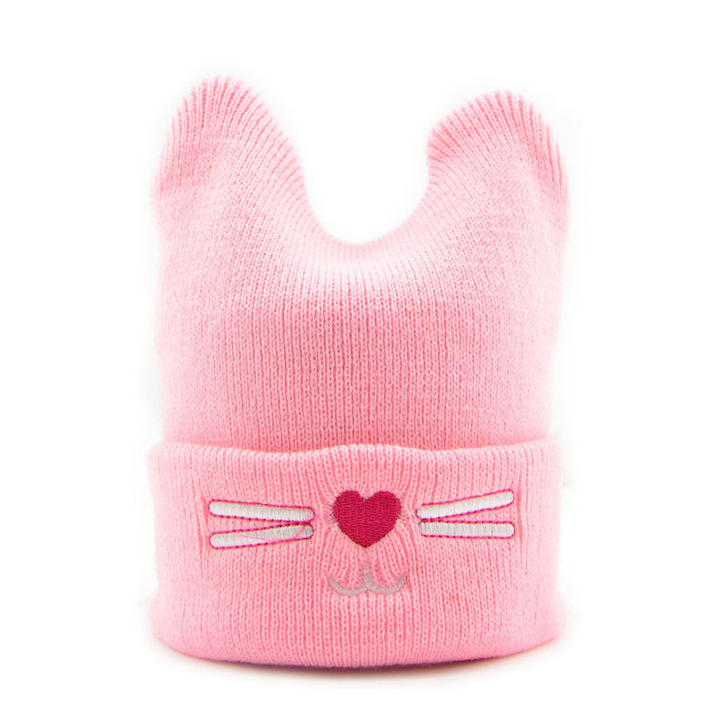 Bnaturalwell Baby Winter Knitted Hat Newborn Warmer cat Cap Boys Girls Cute beanies Kids Children warm cap Christmas gift H073D newborn kids skullies caps children baby boys girls soft toddler cute cap new sale