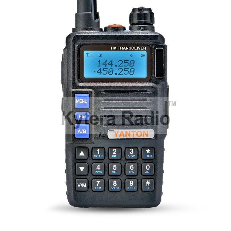 YANTON Tri band Walkie Talkie VHF UHF 136-174MHz & 350-390MHz & 400-480MHz 8W Transceiver FM Radio dua hala mudah alih untuk ham