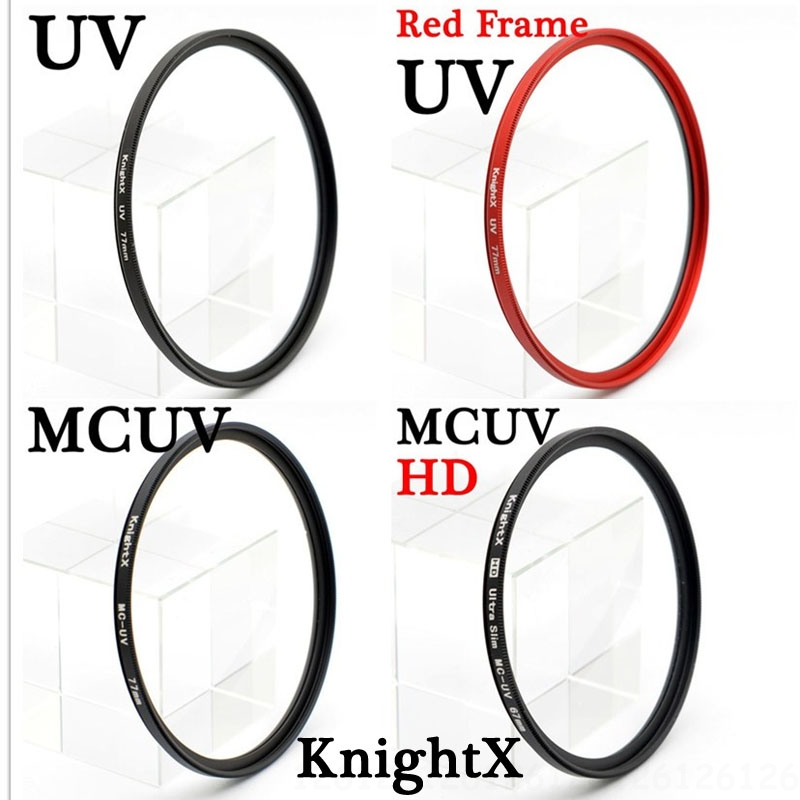 KnightX hd mcuv uv mc 52mm 58 77 mm FILTER untuk Nikon D7200 D5300 D3200 D3100 D3300 D3200 D5100 D5000 D7000 18-55mm 6d 7d 70d 5d