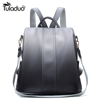 Women Leather Backpack Multifuntion School Backpacks For College Student Vintage Style Back Pack For Teenage Boys Girls