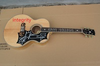 Factory Wholesale Top Quality Solid wood Back/Side Tiger ELVIS presley JONNY WILLIAMS J200NA Burlywood Acoustic Guitar