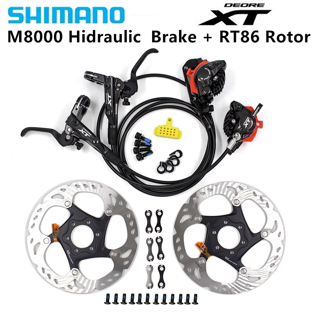 Shimano Deore XT M8000 MTB Bike Disc Brakes Hydraulic Front & Rear Set With SM RT86 6-Bolts 160/180/203mm Disc Brake Rotors Shimano Deore XT M8000 MTB Bike Disc Brakes Hydraulic Front & Rear Set With SM RT86 6-Bolts 160/180/203mm Disc Brake Rotors