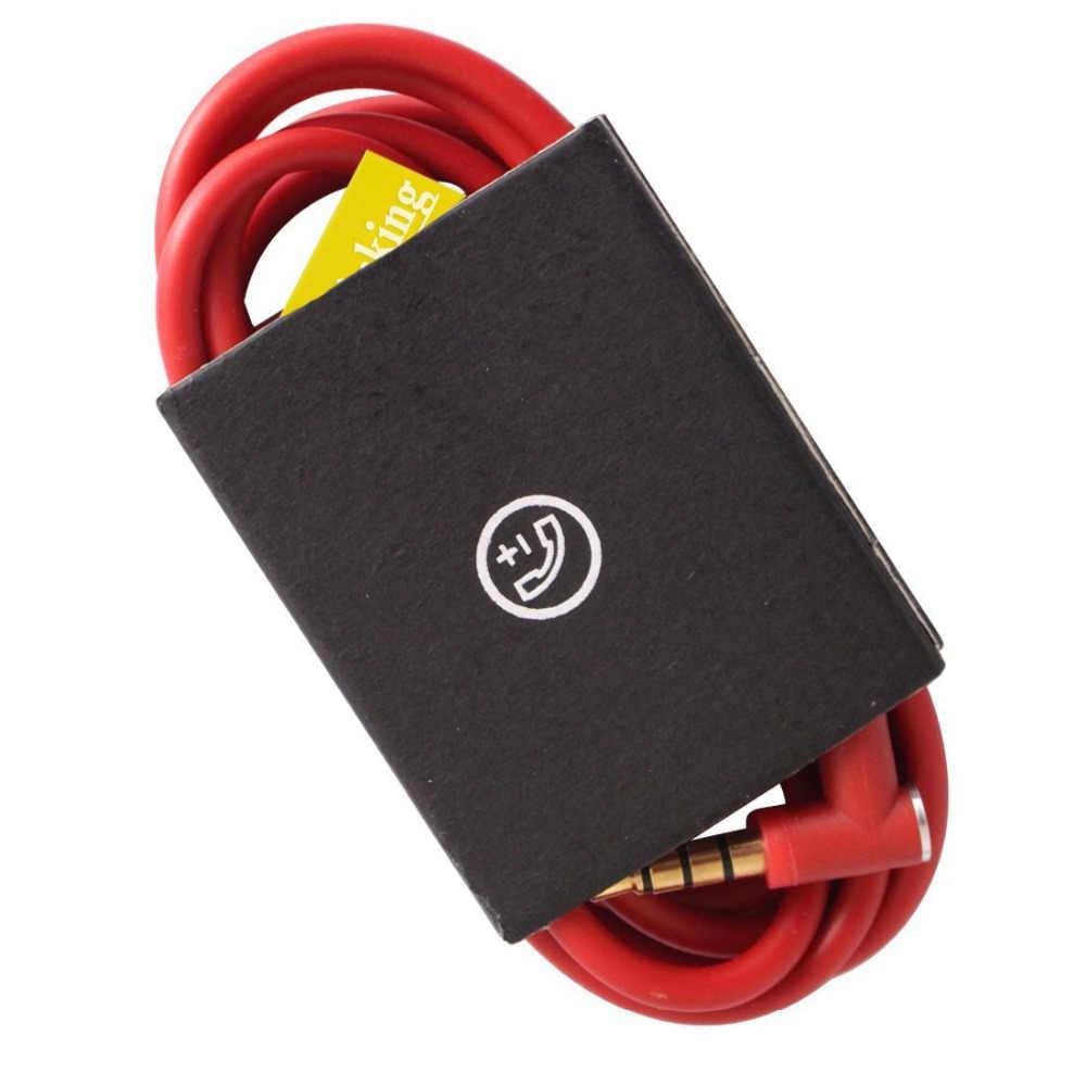 Красный Замена аудио кабель с разговора/Mic пульт дистанционного управления для Beats by dr. dre Studio 2.0 Solo 2.0 Mixr Pro Беспроводной наушники