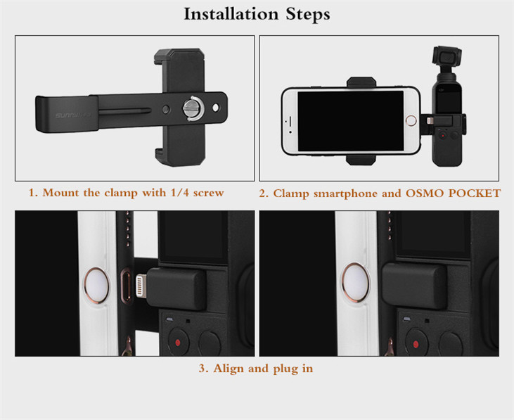 OSMO Pocket Smartphone Fixing Bracket Stand Clamp Extending Rod Tripod for DJI OSMO POCKET Gimbal Accessories 8