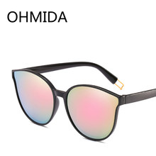 8afaab22f7 OHMIDA Fashionable Pink Mirrors Sunglasses Women Luxury Brands Best Cat Eye  Sun Glasses Vintage Designer Sunglasses For Womens