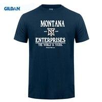 GILDIAN Niềm Tự Hào T Áo Sơ Mi Trung Quốc Tony Montana Các Doanh Nghiệp Scarface Tee Đen sơ mi Homme O Cổ Jersey Cotton T Shirts For Men Bán