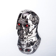 Titanium Steel Ring Terminator Genesis Salvation T800 Skull