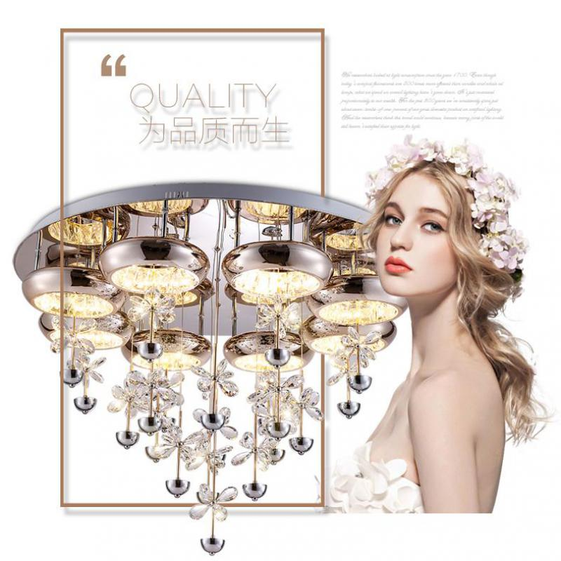 Ceiling Lights Modest Crystal Led Dome Light Living Room Lamp Modern Bedroom Lamp Room Lamp Round Ceiling Light Remote Control Light Fixture