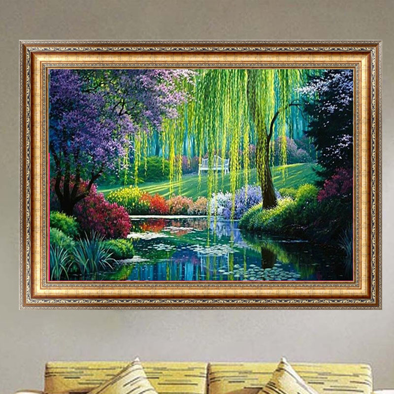 Diy 5d Diamond Embroidery Snow Night Painting Cross Stitch Crafts Home Decor 40 30cm Y102 Us583