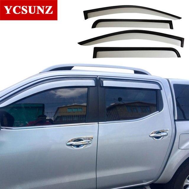 2014-2018 Window door Visors For Nissan Navara 2016 sliver Wind Deflector For Nissan Navara & 2014 2018 Window door Visors For Nissan Navara 2016 sliver Wind ...