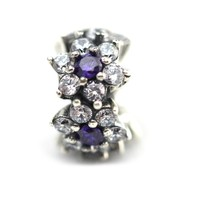 Подходит для Pandora Шарм браслет стерлингового серебра 925 Весна 2016 Forget Me Not Spacer бисера очарование DIY делает для женщин