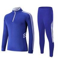 Soccer Jerseys Men Women Kids Football Tracksuit Kits Soccer Sweater Sets Running Training Suit Zipper Skinny