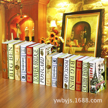10PC Manufacturer direct European style retro paper Fake Book photography props  decoration FG-15 book