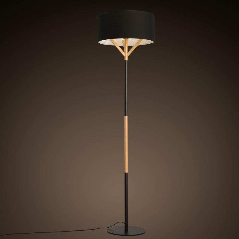 Holz Neue Nordic Modernen Boden Leuchtet Minimalistische Mode Vertikale Schlafzimmer Studie Wohnzimmer Lampe Tuch Stehlampe