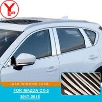Stainless Steel car window trim strip For mazda cx 5 cx5 2017 2018 trim molding For mazda cx 5 2018 parts accessories YCSUNZ