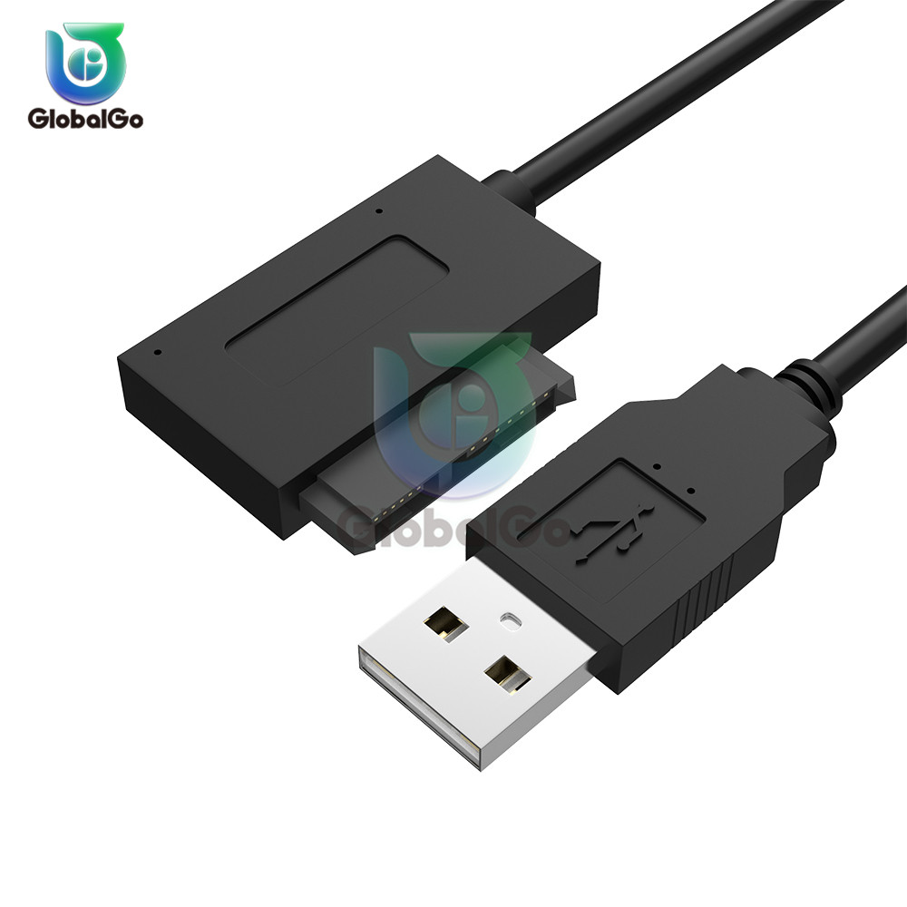 USB 2.0 To 13pin USB 2.0 To Mini For Sata II 7+6 Adapter Converter Cable For Laptop For CD/DVD For ROM Drive Converter USB Cable