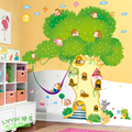 Cute Animals DIY Wall Sticker Cartoon The tree House Colorful PVC Decal Decor Kid Baby Room Kindergarten School Decorate