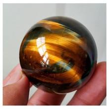 Натуральный темно-желтый Азиатский редкий тигровый глаз кварцевый камень хрустальный шар цитрин 2,5 см домашний декор натуральный камень резной