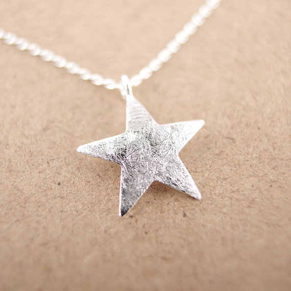 Daisies New Fashion Pendant Necklace Starlight star necklace gold silver gift wedding For Girl Women One Piece