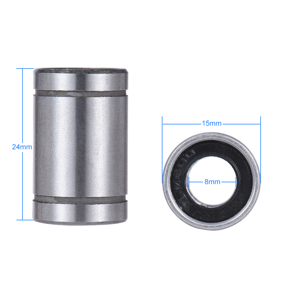 Computer & Office Office Electronics 3d Printer Parts Lm8uu 8mm Inside Dia Rubber Linear Ball Bearing Bushing For I3 Anet 3d Printer 2019 Official