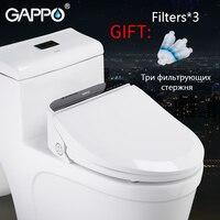 GAPPO Smart сиденья для унитаза электронное сидение для туалета крышка биде Washlet Электрический биде чехол с подогревом светодио дный встроенный