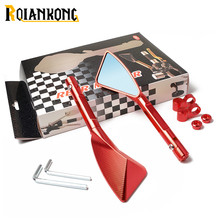 For Honda CBR F4 F4i/RC51/ RVT1000 DD250E/300/350 HYOSUNGUniversal 1 pair Motorcycle mirror side Rearview motorcycle accessories