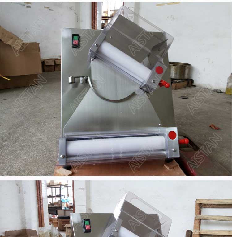 DR2A electric commercial stainless steel pizza dough roller/dough sheeter machine/dough press machine 14