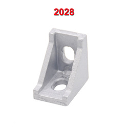 20PCS 2028 Corner Fitting Angle Aluminum 20 x 28 L Connector Bracket for 2020 Industrial Aluminum Profile