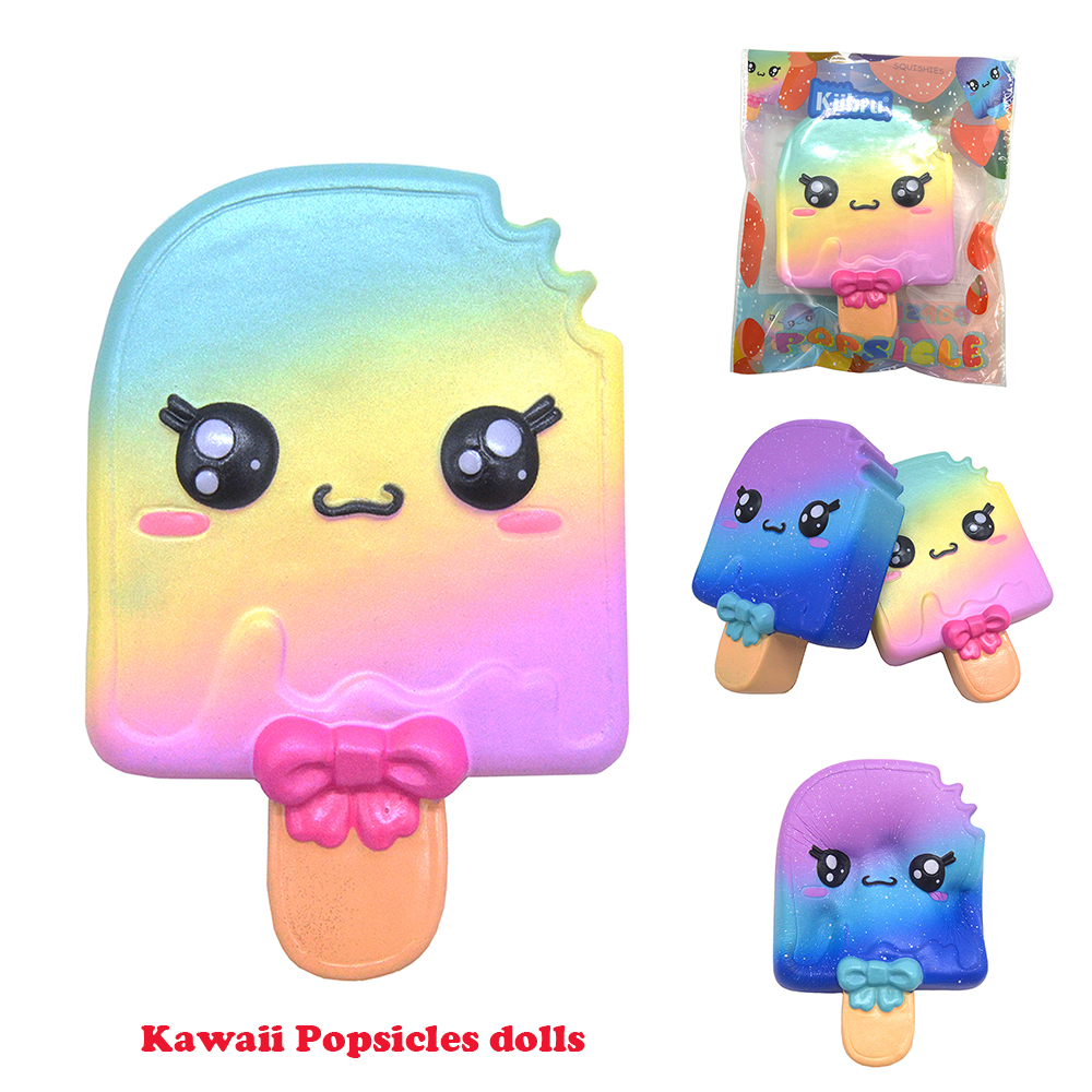 Beautiful Cute Galaxy Kiibru Popsicles Rare Squishy Jumbo Slow Rising Super Original Package Kids Toy Gift