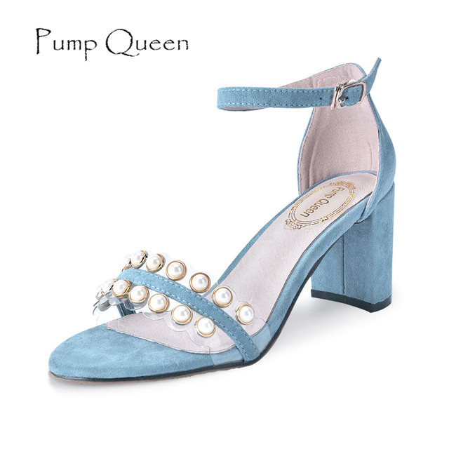 Blue Wedding High Heel PU Summer Heel  cJ33L7wu