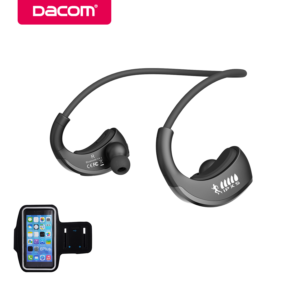 Dacom ARMOR IPX5 Waterproof Sport Wireless Bluetooth Earphone Headphone Stereo Headset Neckband Handsfree for phone electronics hbs 760 bluetooth 4 0 headset headphone wireless stereo hifi handsfree neckband sweatproof sport earphone earbuds for call music