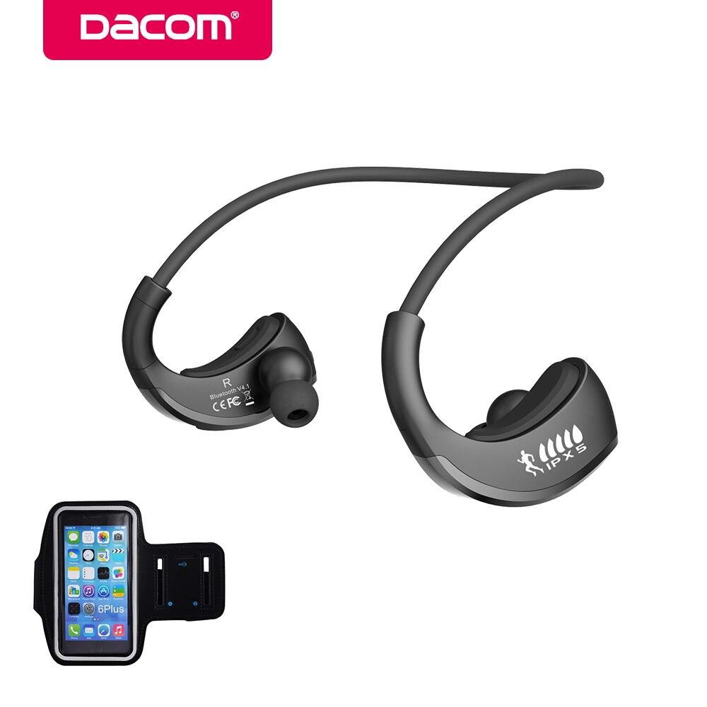 Dacom ARMURE IPX5 Étanche Sport Sans Fil Bluetooth Écouteur Casque Stéréo Casque tour de Cou Mains Libres pour téléphone électronique