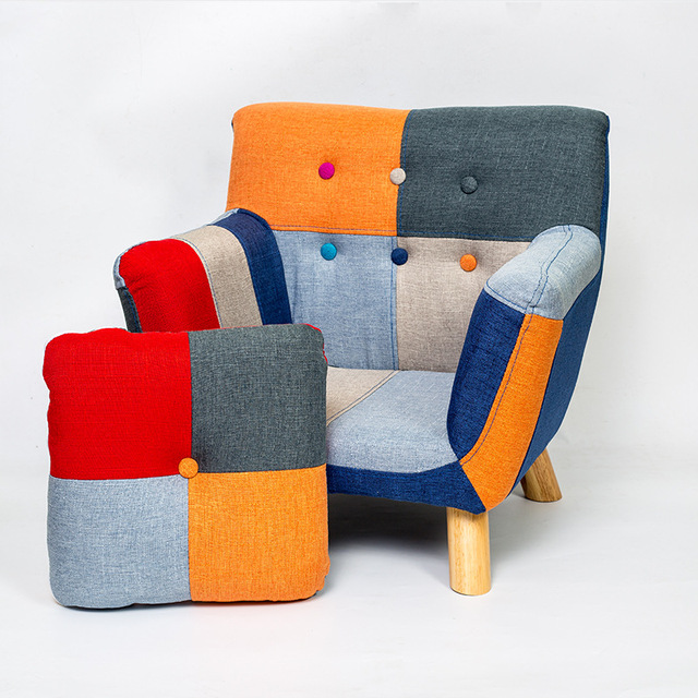 Modern Children Kids Sofa Couch Armrest Chair Upholstered