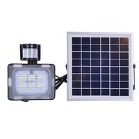 10W Solar LED Flood Light With PIR Motion Sensor DC12V 24V 600LM Solar Powered Security Lights