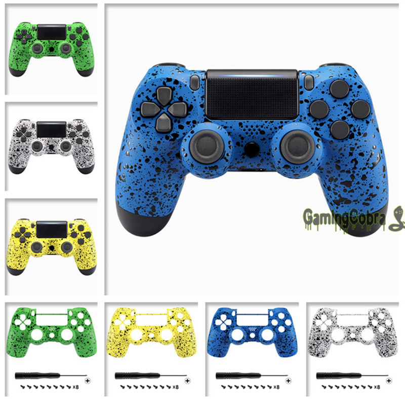 Textured 3D Splashing Front Housing <font><b>Shell</b></font> Faceplate Cover for PS4 Slim & for PS4 Pro Controller - <font><b>JDM</b></font>-040 <font><b>JDM</b></font>-050 <font><b>JDM</b></font>-<font><b>055</b></font> image