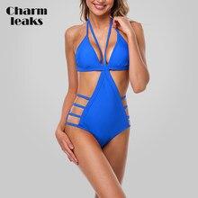 5876a305172 Charmleaks One Piece Women Hollow Out Swimwear Strappy Cutout Monokini Sexy  Swimsuit Bandage Bikini Bathing Suit
