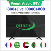 IPTV French Arabic IPTV Subscription QHDTV/IUDTVPRO/ITHDTV/SUBTV 1 year Code for m3u Android Smart tv IP TV Spain Italy Canada