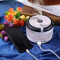 Dobrável Mini Ventilador Umidificador Portátil Conditione Ar Spray de Fãs USB Recarregável Desktop Ventilador De Refrigeração Da Bruma Beleza Umidificador